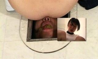 Hurrying Student Shits On Human Toilet