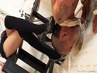 Dominatrix Buries Slaves Face In Piss And Feces