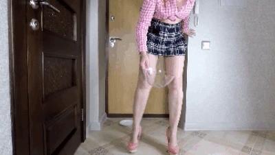 School Girl Pooping