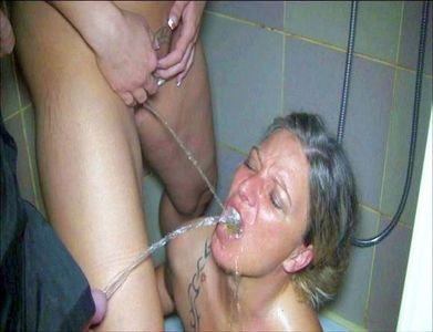 A Vulva And A Cock Piss Me In The Mouth At The Same Time