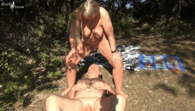 Public At The Lake Slaves Pissed Into The Mouth