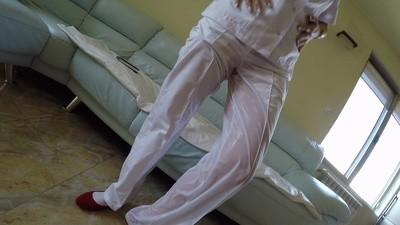Mega Wetting Of A Nurse In White