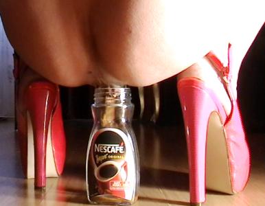 Slave Meal In Nescafe Bottle