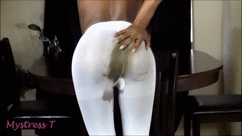 Butthole Play In Sexy White Stockings
