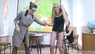 Perverted Lesbian A Pussys Piss In Classroom