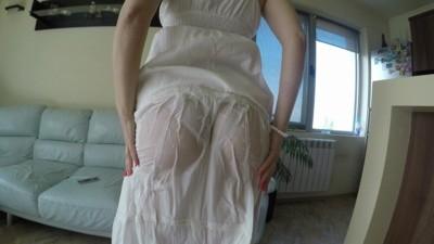 Pee Soaked Dress