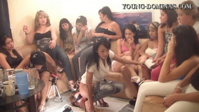 14 Chick's And A Floor Level Toilet Slave Part 3