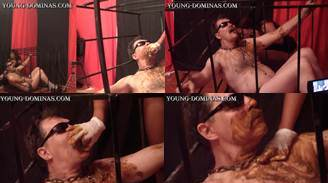 Slave In Cage To Be Our Toilet Part 6