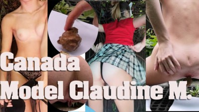 Claudine M – Model From Canada Pooping