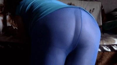 Blue Pantyhose Smeared