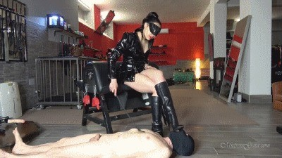 Mistress Gaia – His First Scat Meal