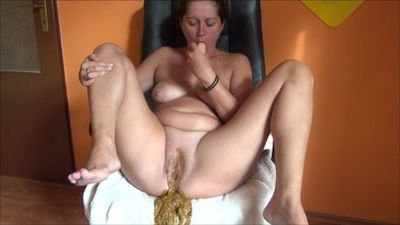 Piss Shit And Masturbation With Dildo